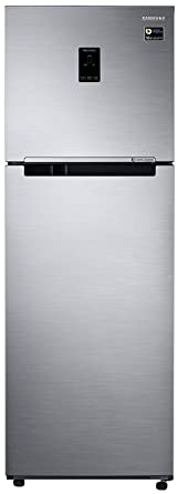 Samsung 345 L 3 Star Frost Free Double Door Refrigerator(RT37M5538SL/HL, Clean Stainless, Convertible, Inverter Compressor)