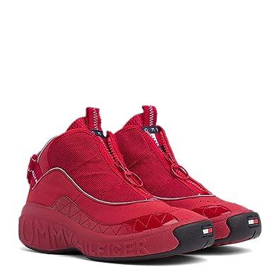 e87189c753e63 Tommy Hilfiger Women s Lace-Up Flats Red Size  4  Amazon.co.uk ...