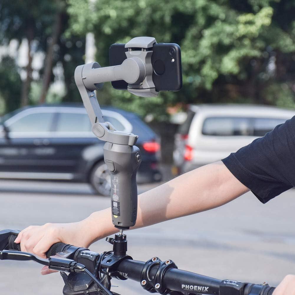 TEEKOO Soporte para cámara de Bicicleta, Soporte de Clip Fijo para Manillar de Bicicleta para dji Osmo Mobile 3 estabilizador de cardán de Mano: Amazon.es: Coche y moto