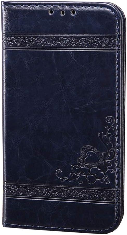 Karomenic PU Leder H/ülle kompatibel mit Samsung Galaxy S10 Pr/ägung Blume Muster Handyh/ülle Brieftasche Silikon Schutzh/ülle Klapph/ülle Magnet Kartenf/ächer Ledertasche Wallet Flip Case Etui,Blau