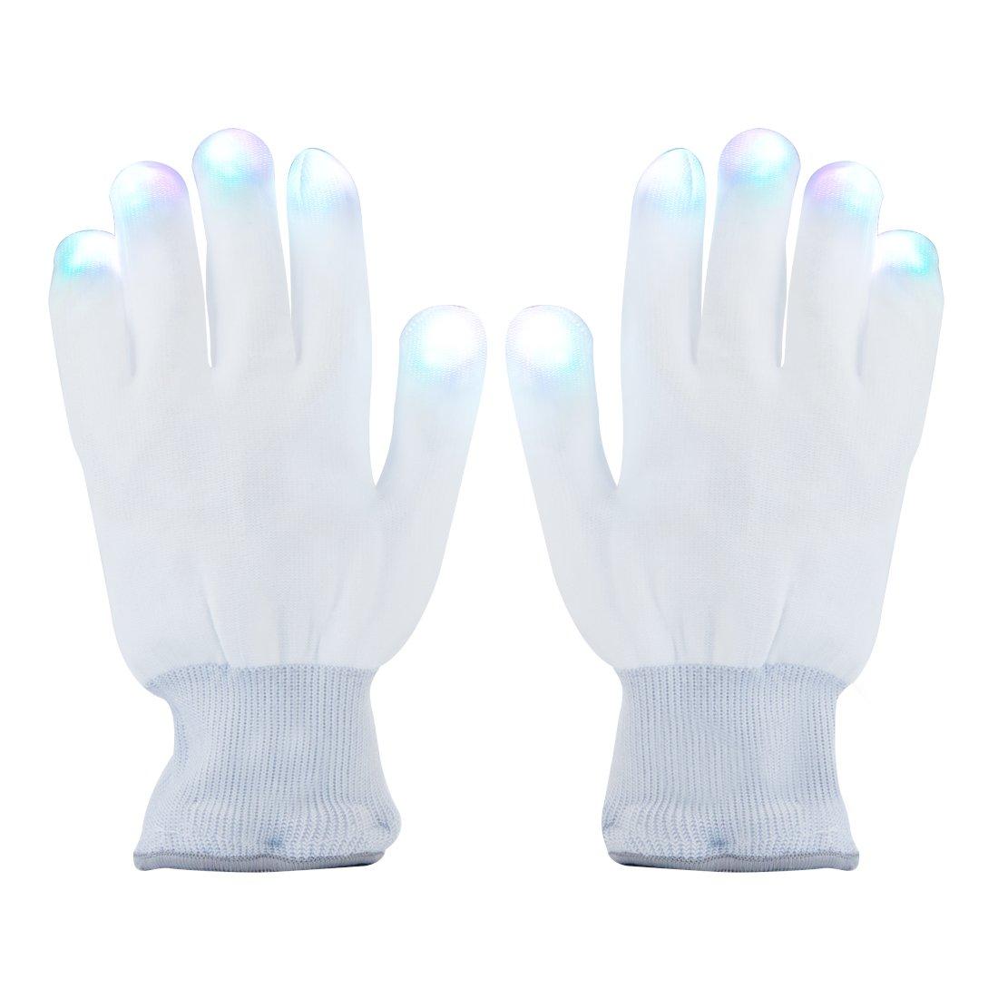 Aomeiqi Guantes con Iluminaci/ón LED color blanco