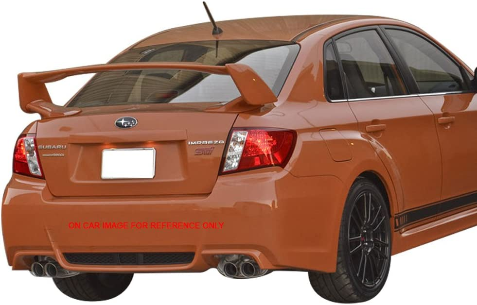 KazeTuning JDM Style 2008-2014 Subaru WRX 2008-2011 Impreza STI STI Style ABS Unpainted Trunk Boot Lip Spoiler Wing Deck Lid