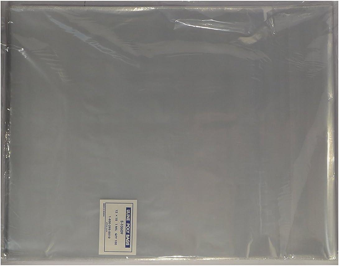 "12 x 15/"" Flap Lock Clear Poly Bags 1 Mil  T Shirt Apparel Bag Lot of 200"