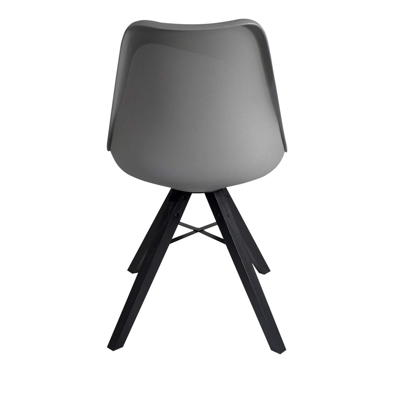 Heyesk Dining Room Chair Mid Century Modern Chairs,Upholstered Seat(Grey, 1) by heyesk (Image #6)