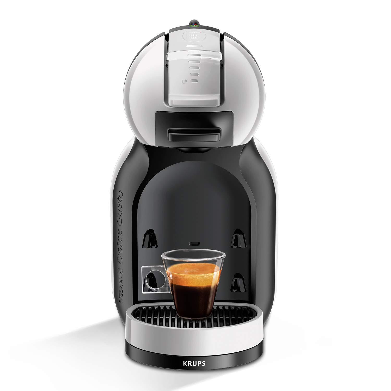 Krups Mini Me KP123B - Cafetera (Independiente, Máquina espresso, 0,8 L, Cápsula de café, 1500 W, Negro, Plata): Amazon.es: Hogar