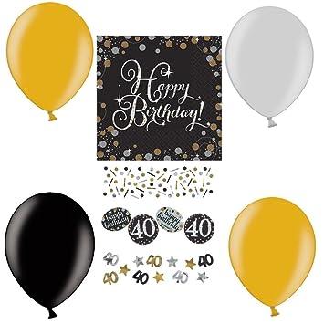 Feste Feiern Geburtstagsdeko Zum 40 Geburtstag 21 Teile All In One