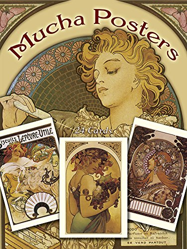 Mucha Posters Postcards: 24 Ready-to-Mail Cards (Dover
