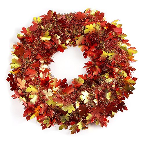 Amscan Fall Foliage Wreath, 18 inches