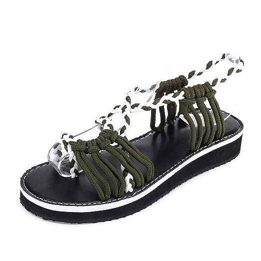cbb44e1aa98ef Amazon.com: Boomboom Women Shoes, Women Woven Strap Fashion Beach ...