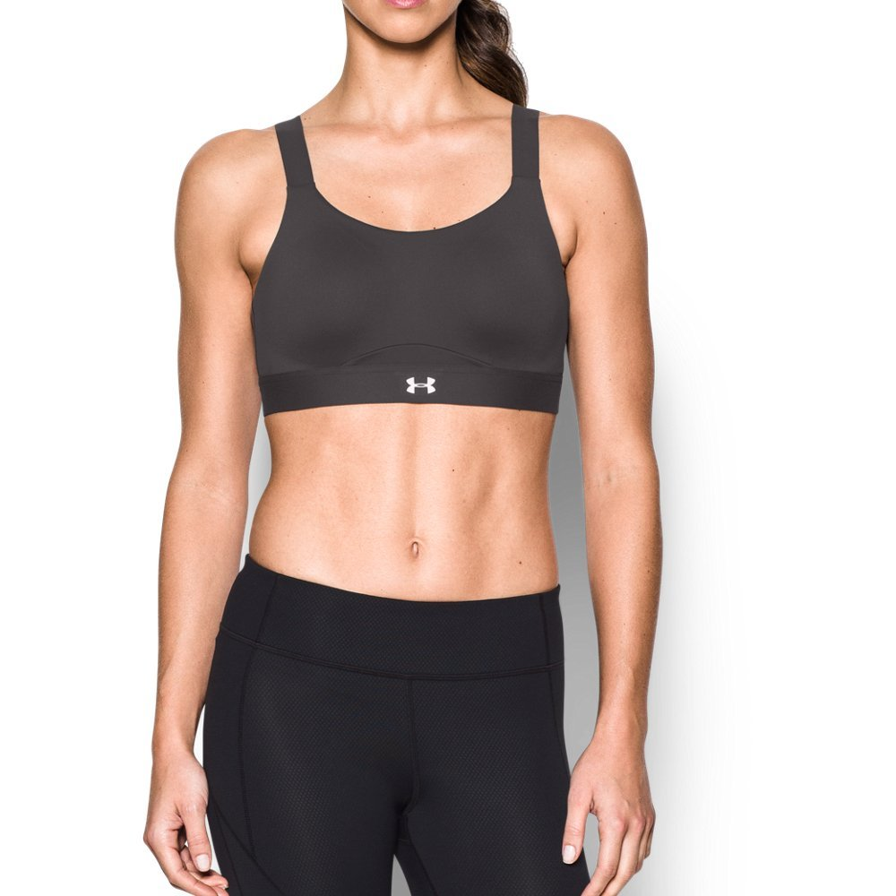 Under Armour Women's Armour Eclipse High Impact Sports Bra,Charcoal /Metallic Silver, 32A by Under Armour