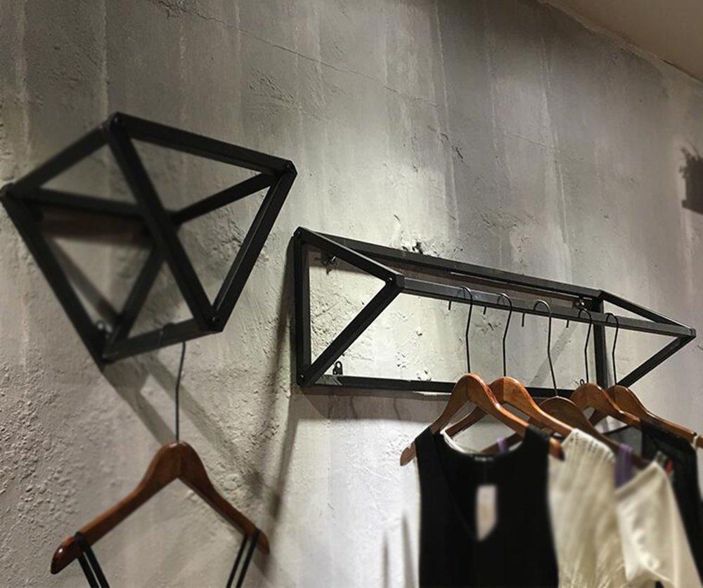 Women's clothing shop display rack / shelf / clothing rack / display rack / side shelf / iron wall hanger / (100 30 30cm) by Hangers