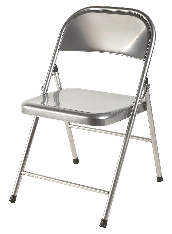 EUROSILLA Mod.22/Chaise Pliante de Salon Argent/é 76/x 47/x 48/cm