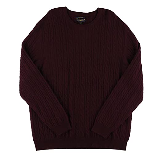 Club Room Mens Cable Knit 100 Cashmere Crewneck Sweater 3xl