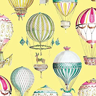 hot air balloon kids room wallpaper/ non-woven wallpapers of cartoon murals/Sweet boys and girls bedroom wallpaper-D