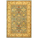 Safavieh Anatolia Collection AN544D Handmade Traditional Oriental Light Blue and Ivory Wool Area Rug (5′ x 8′) Review