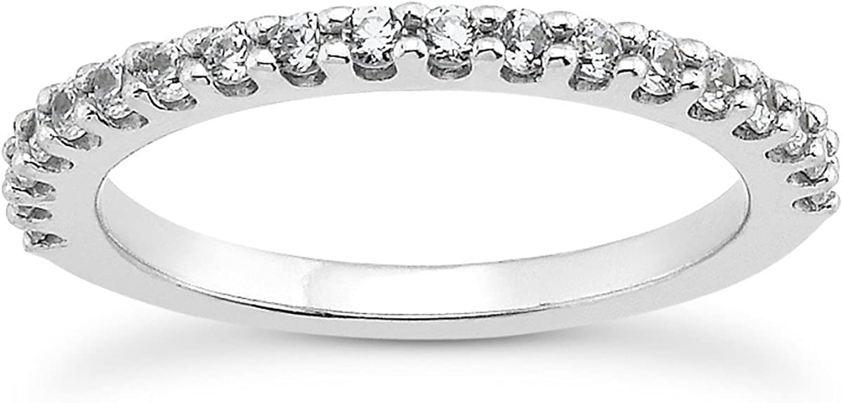 14K White Gold Shared Prong Diamond Wedding Ring Band with U Settings 61FLuOuOr3LUL1200_