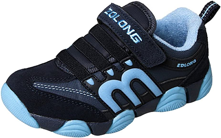 Little Kid//Big Kid iDuoDuo Boys Girls Athletic Ankle Boot Trainers Warm Hiking Boots