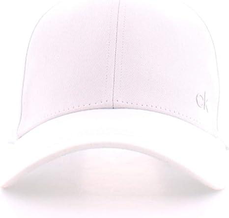 Calvin Klein CK Metal Cap Gorra de béisbol, Blanco (White 101 ...