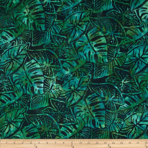 (Robert Kaufman Artisan Batiks Totally Tropical Fern Leaves Palm Fabric by The Yard)