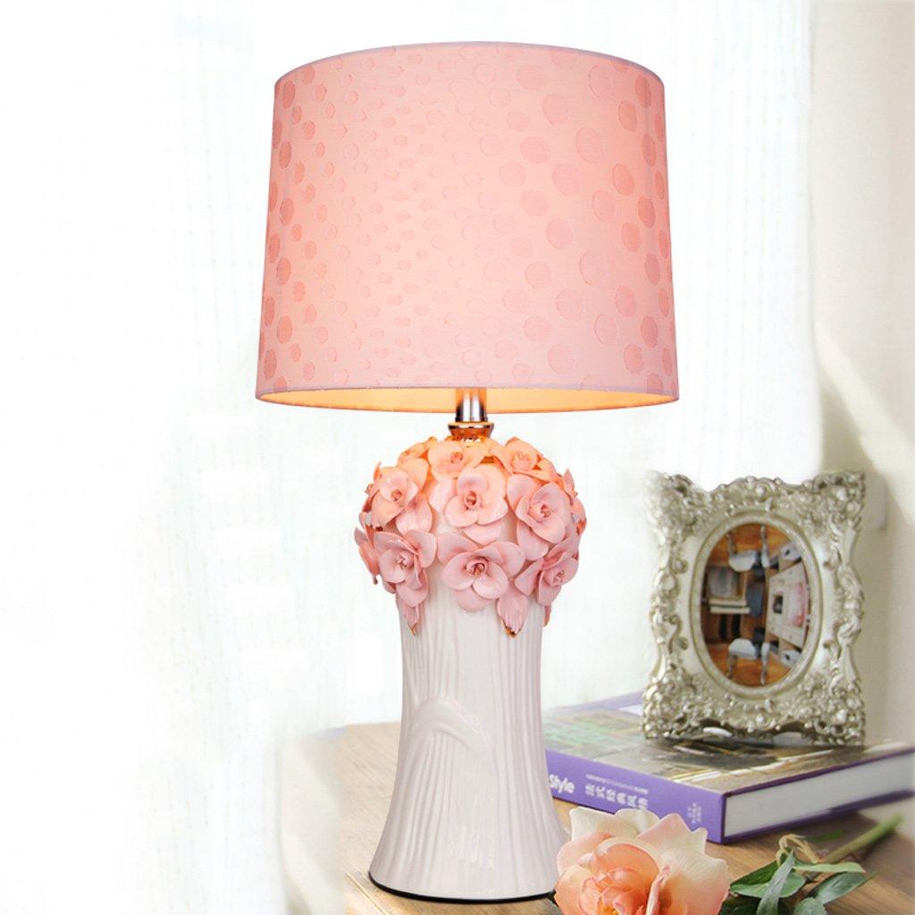 Lily Lámpara de Mesa de cerámica de Color Lámpara Rosa Estilo Coreano - Lámpara Color de Mesa Decorativa de cabecera de Dormitorio Creativo E27  1 (Size : S) ee559d