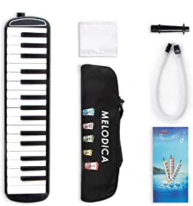 Kmise Melodica 32 Piano Keys Pianica Musical Instrument with Black Carrying Bag