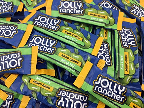 Jolly Rancher Hard Candy, Fun Size Apple Stix (Pack of 2 Pounds) (Jolly Rancher Stix)