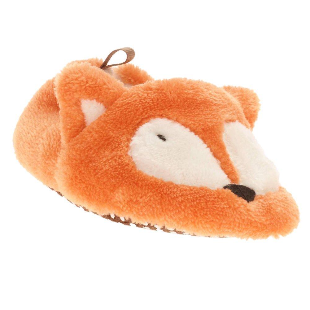 Holiday Catalog Infant Boys & Girls Plush Orange Fox Slippers Baby Prewalk Shoes