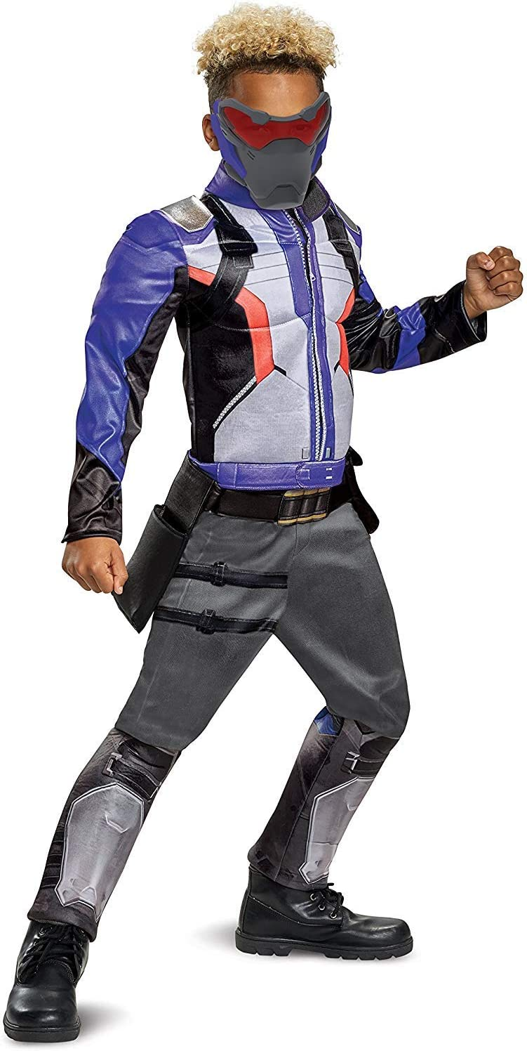 Disguise Soldier: 76 Classic Muscle Child Costume Blue X-Large/(14-16) [並行輸入品]