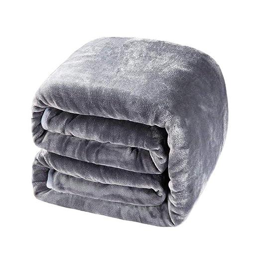 JUFENG Weighted Heavy Blanket Sueño Profundo Natural, Reducir El Estrés, La Ansiedad, El Autismo 100% Algodón con Cuentas De Vidrio,Grey-104 * 152cm: ...