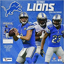 first rate 13cf4 007f9 Detroit Lions 2018 Calendar: Inc. Lang Companies ...
