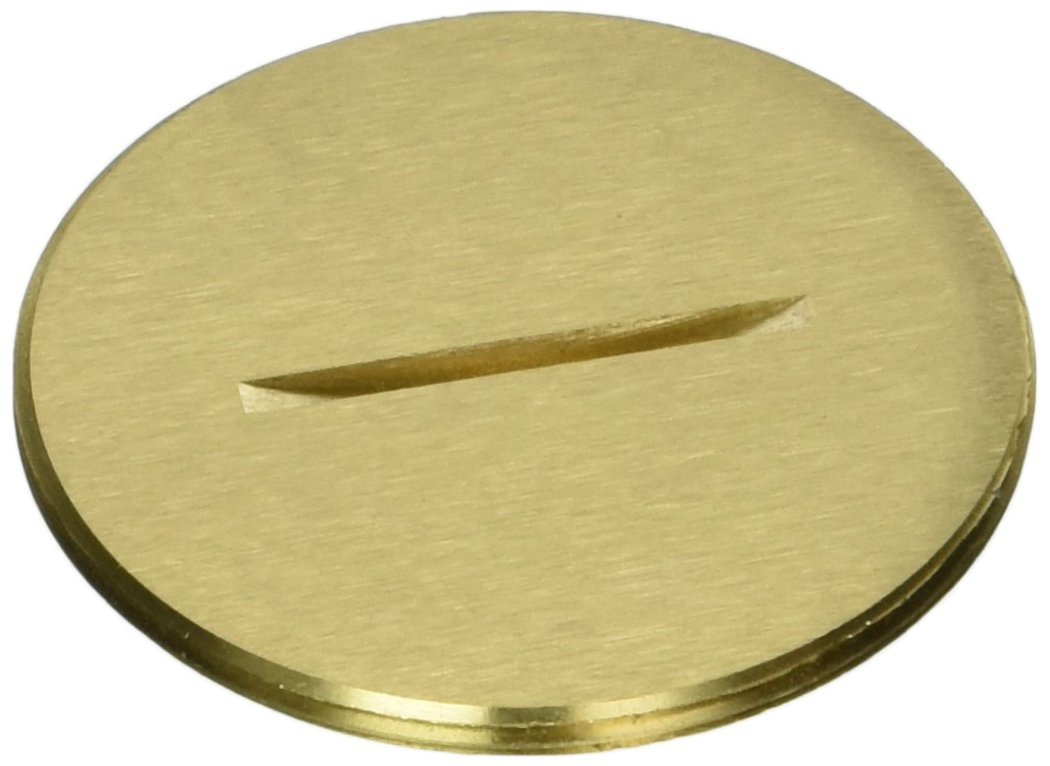 Hubbell-Raco 6208 Flush Threaded Plug with 2-1/8-Inch Diameter, Brass