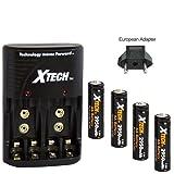 Xtech 4 AA High Capacity 2950mah Rechargeable