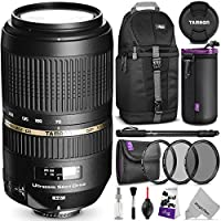 Tamron AF 70-300mm f/4.0-5.6 SP Di VC USD XLD Lens for CANON DSLR Cameras w/ Advanced Photo and Travel Bundle