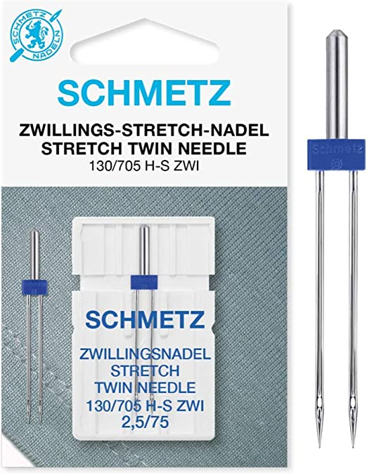 Schmetz Aguja de máquina de coser de doble estiramiento 130/705 HS ...