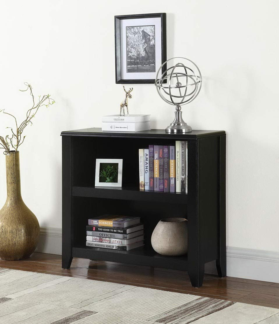 Coaster Home Preater Black Two-Shelf Bookcase Black/Transitional