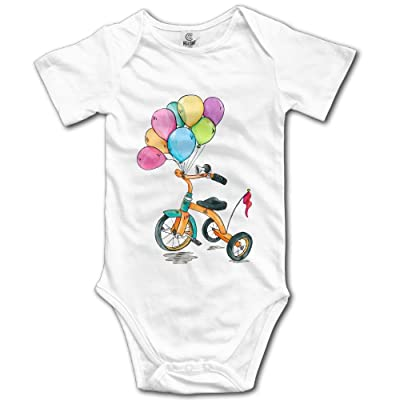 Midbeauty Children's Car Balloon Newborn Baby Sleeveless Jumpsuit Romper
