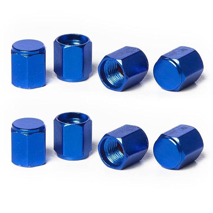 Circuit Performance VC2 Series Blue Aluminum Valve Stem Caps 8 Pieces
