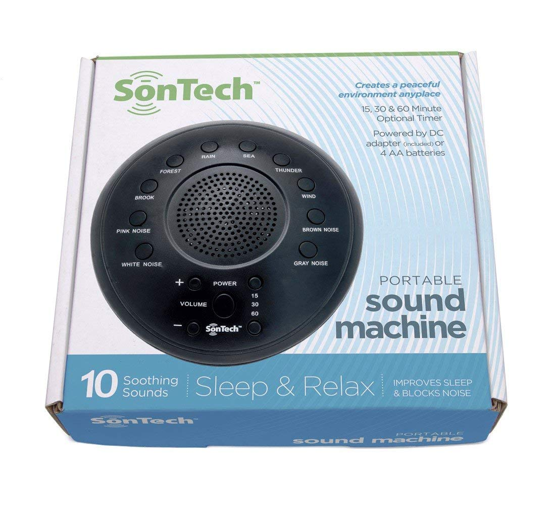SonWave - White Noise Sound Machine - 10 Natural Soothing Sound Tracks Home, Office, Travel, Baby - Multiple Timer Settings - Battery or Adapter Charging Options by Alayna