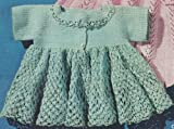 Vintage Crochet PATTERN to make - Thread Crochet Baby Sacque Sweater Dress. NOT a finished item. This is a pattern and/or instructions to make the item only.