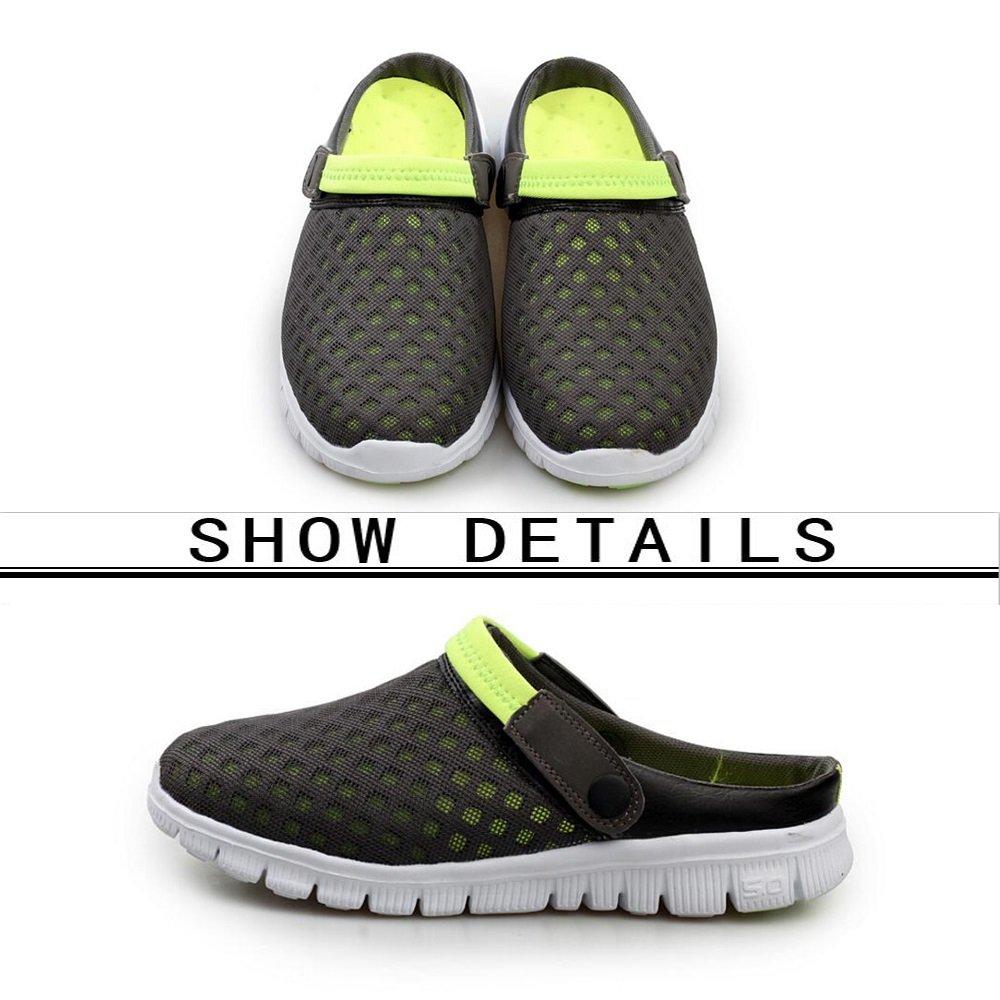 GAOLIXIA Lovers Mesh Sandalen - Mens Womens Schuhe Amphibious Hausschuhe - Breathable Beach Sandalen - Outdoor Walking Garden Sommer Schuhe mit Entwässerung Löcher (Farbe : Rot, Größe : 45)