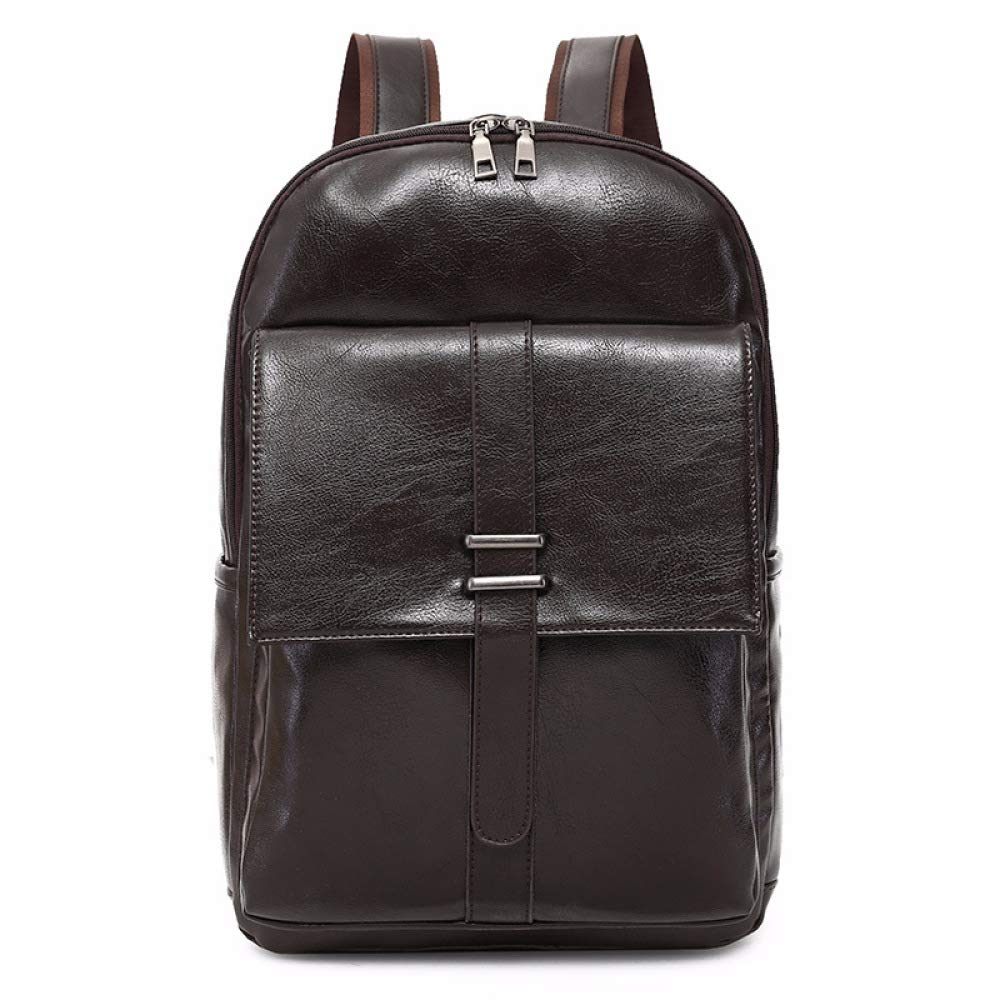 Brown One Size DHFUD Men's Backpack Casual Business Briefcase Student Bag