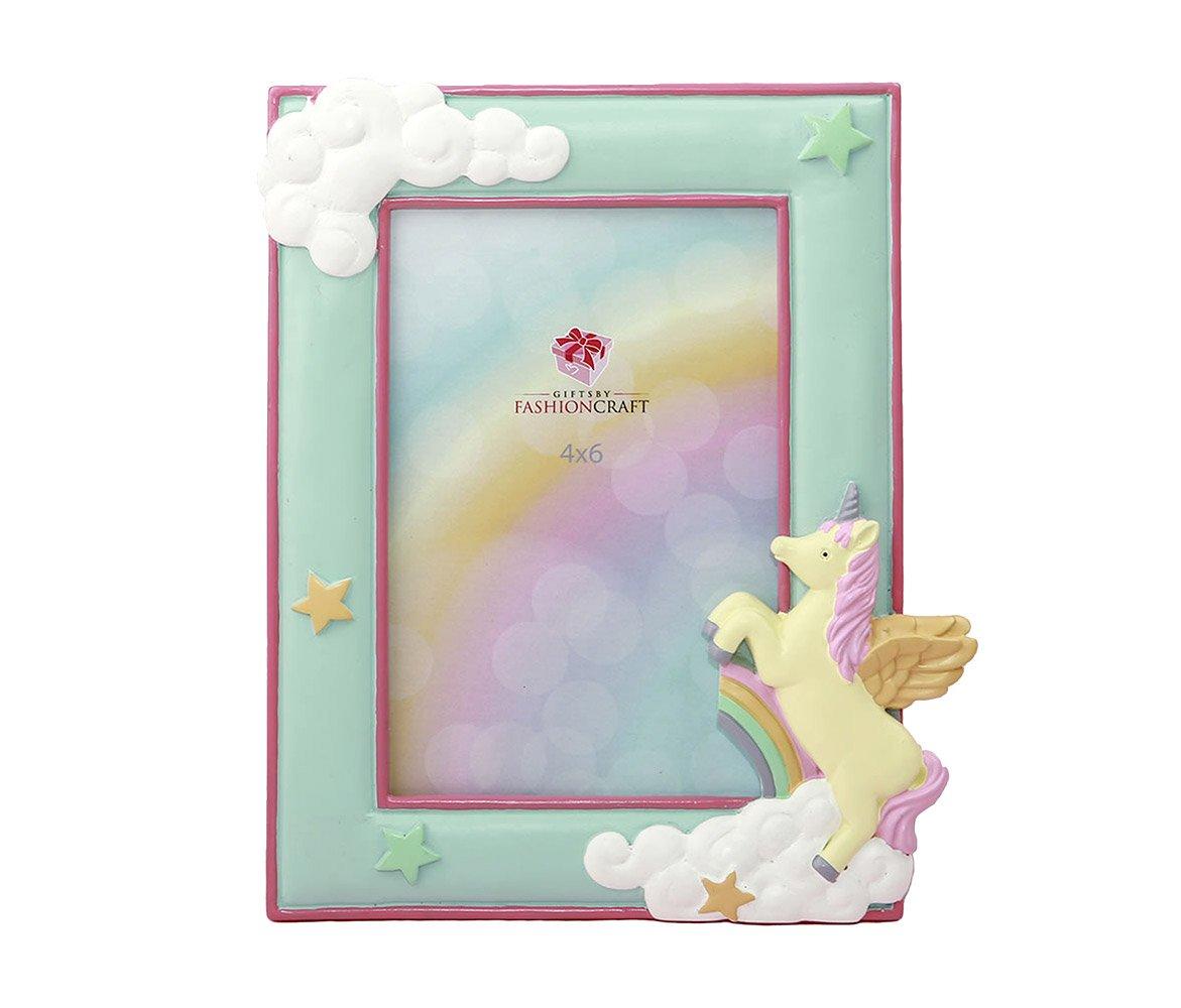 Mozlly Mint Green 4 x 6 inch Unicorn Photo Frame - Nursery Decor - Item #105028 Fashioncraft