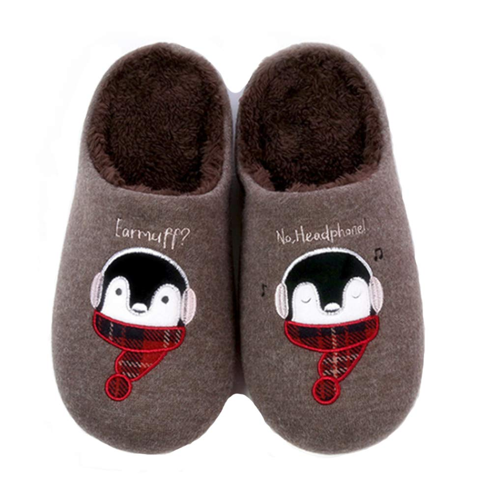 Toddler//Little Kid Kids Fur Lined Indoor House Slipper Warm Winter Home Slippers for Girls//Boys Elcssuy Cute Home Shoes