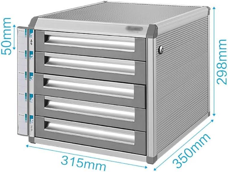 セットシステムボックスの革新引き出し4つのクローズドオフィスの収納ボックスA4プラスチックデータロッカー (Color : B)