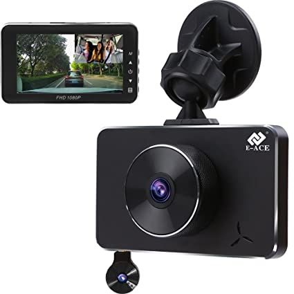 Amazon Com E Ace Dash Cam Dual Lens Fhd 1080p Car Video Recorder In