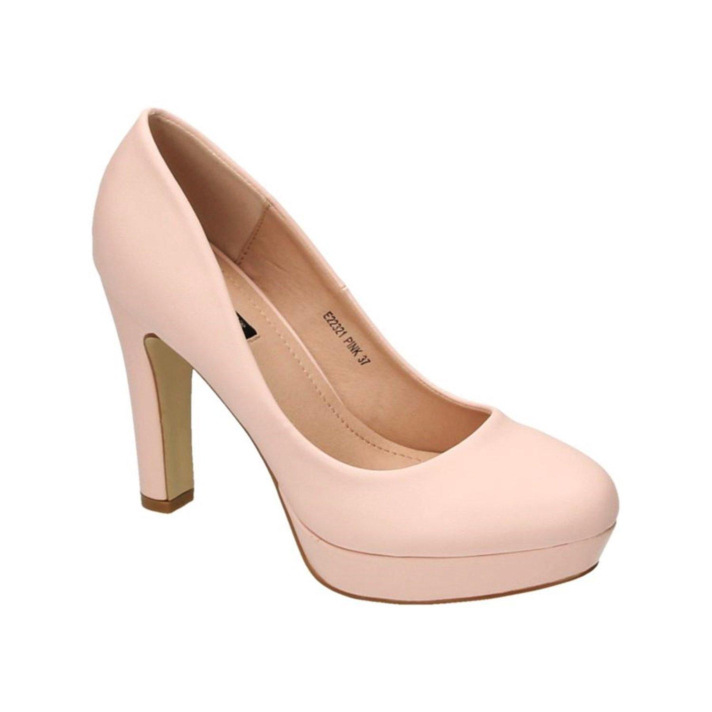 Klassische Damen Pumps Stilettos High Heels Plateau Abend Schuhe Bequem 321 (38, Schwarz) King Of Shoes