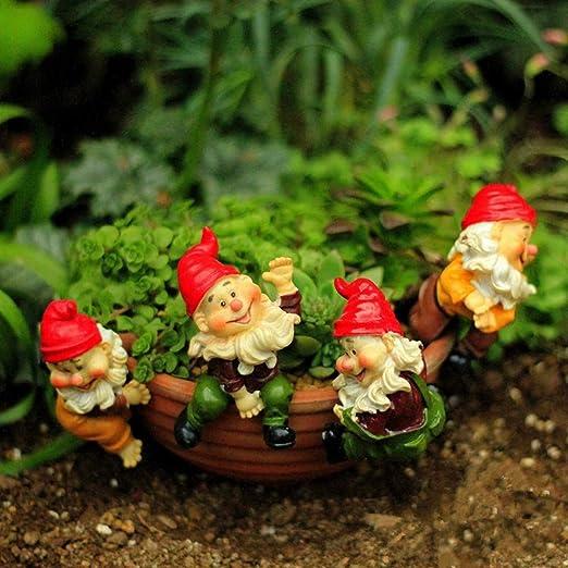 IFEVER 4 Piezas de Resina Santa Claus Miniatura Accesorios de jardín de Hadas, Mini figuritas de Animales Ornamentos maceteros Colgantes Decoraciones: Amazon.es: Jardín