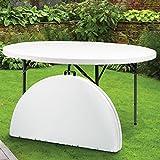 ProBache - Table ronde pliante d'appoint portable D.122 cm