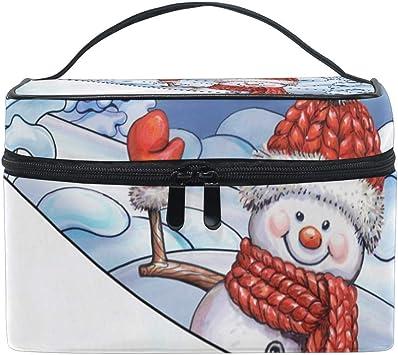 Bolsa de Maquillaje de Viaje Winter Snowman Tree Organizador de Estuche cosmético portátil Bolsa de Aseo Bolsa de Maquillaje Estuche de Tren de Maquillaje para Mujer Gi: Amazon.es: Equipaje
