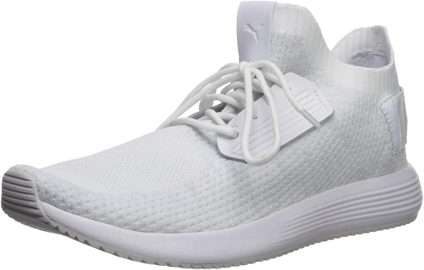 knit white sneakers